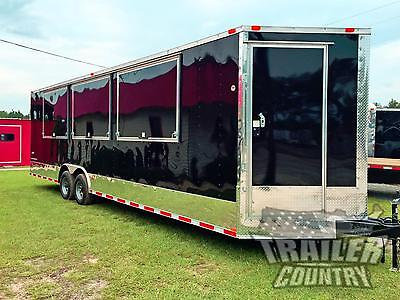 New 8.5 X 28 28 V- Nosed Enclosed Vending Concession Trailer 10k Axles