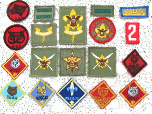 LOT OF 19 ASSORTED VINTAGE MODERN BSA BOY / CUB SCOUT PATCHES