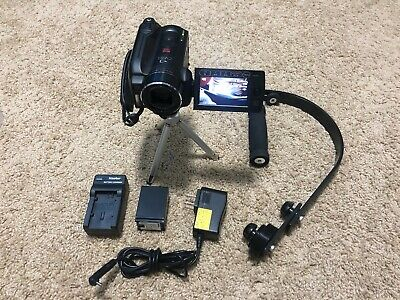 Canon Vixia HG20 HD Camcorder Extra Batt Hand Stabilizer Tripod 60GB HDD Vlog for sale  Shipping to India