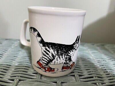 Kliban England Kiln Craft Cat Mug Coffee Cup Red Sneakers Vintage