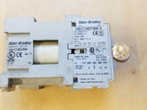 A-B/Allen-Bradley 100-C16D*300 Series B Contactor Starter
