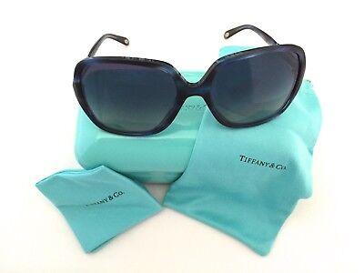 New Authentic Tiffany & Co. TF4072-B 8113/4L Crystal Blue 57mm Sunglasses w/Case