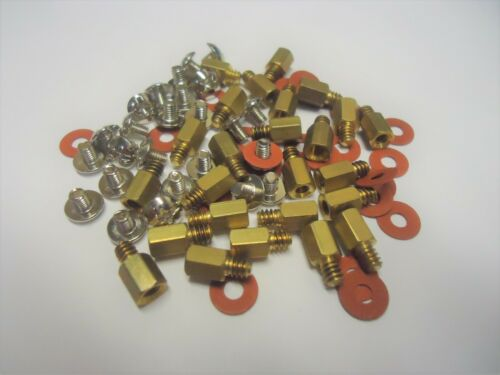 PC Motherboard Brass Standoff + M3 screw + washer insulating fiber, 20 pcs each