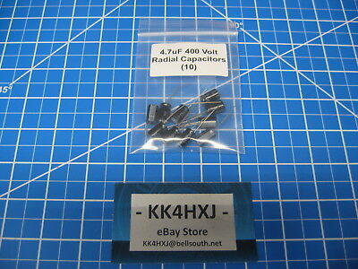 4.7uf 400v Radial - Electrolytic Capacitors - Lot Of 10
