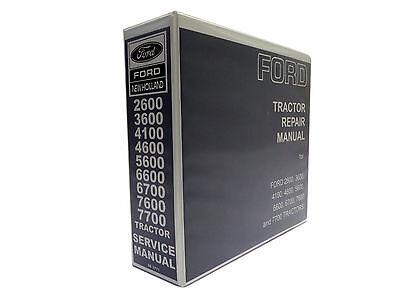 Ford Tractor 26003600410046005600590066007600 Service Manual Repair Shop
