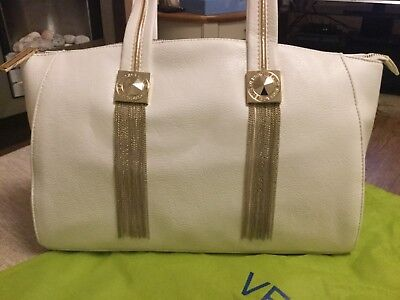 Versace Jeans handbag, white with gold detail