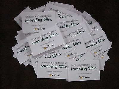 Starbucks Rewards Stars Lot of 10 Codes 150 pts, Best Deal, E-delivery!