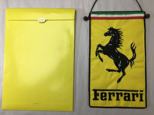 Schedoni Ferrari Prancing Horse Mini Flag/Banner. Rare vintage originals