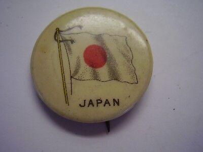 Vintage Celluloid Pinback Japan Japanese Flag