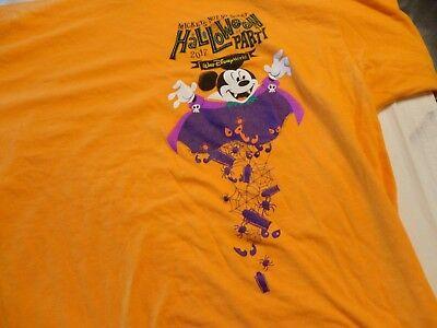 Disney World Mickey's Not So Scary Halloween Party 2017 T-Shirt Orange  Large ](Disney World Halloween 2017)