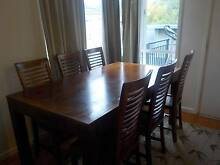 Java wood dining table and six chairs Karabar Queanbeyan Area Preview