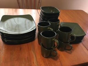 Black and green, Corelle Hearthstone dishes