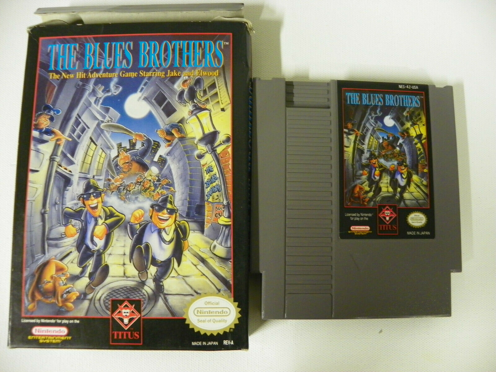 THE BLUES BROTHERS, NES, NINTENDO, BOX CART ONLY AUTHENTIC, TESTED, SEE PICS - $99.99
