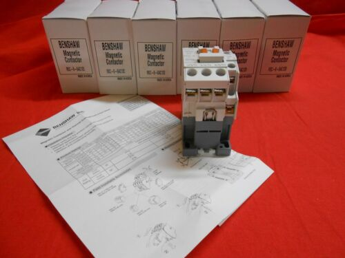 BENSHAW  RSC-9-6AC120  3-Pole 9 AMP CONTACTOR W/120V AC Coil - NEW IN BOX