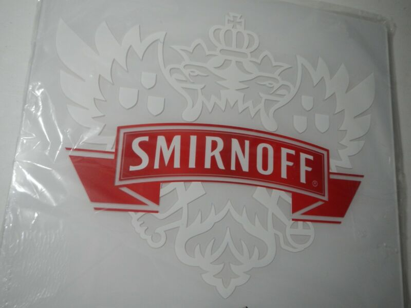 New Smirnoff Vodka Illuminated Lighted Lit Sign With Power Cord
