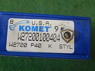 5 Komet W27 20010.0404 W2720 P40 K Style Carbide Inserts