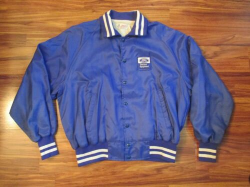 Vintage Blue FORD TRACTORS EQUIPMENT Satin Jacket - XXL