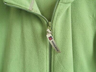 Ladies Nice Warm Branded Zipper Pull WOOLRICH Green Soft Polar Fleece Vest Layer
