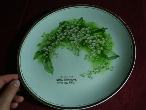 Antique Abrams WI Souvenir Plate PLATTER Chas. Windross