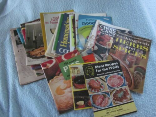 30 PC LOT VINTAGE COOKBOOKS COOKING ADVERTISING BOOK