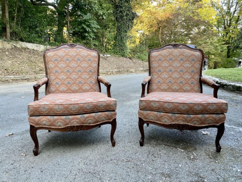 Pair of Sherrill French Bergere Style Chairs