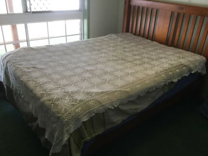 Crochet Cotton Double Bed Blanket