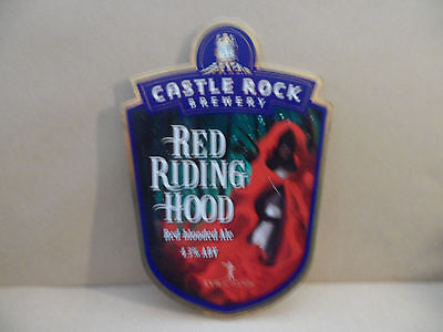 CASTLE ROCK BREWERY RED RIDING HOOD  Ale Beer Pump Clip ,..