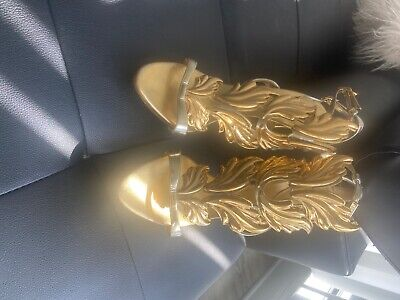 **Giuseppe Zanotti Coline Wings Dress Heels - Women's Size US:11 / EU:42 Gold