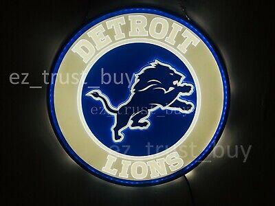 New Detroit Lions LED 3D Neon Sign 17