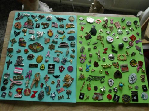 COLLECTION OF 1OO PLUS ASSORTED VINTAGE LAPEL TIE TACK ENAMEL PINS