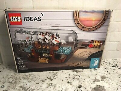 LEGO Ideas 21313 Ship in a Bottle Set NEW Sealed, Mint condition