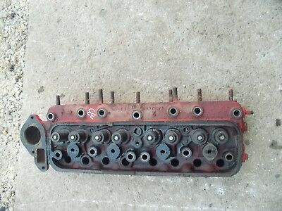 Massey Harris 33 Tractor Engine Motor Good Working Cylinder Head Valves