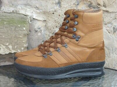Vintage 1980s Adidas Trekking Boots UK 9 Made In Yugoslavia OG 80s Winter Brown