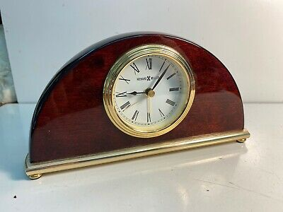 Howard Miller Cherry Mantel / Desk Alarm Clock.  Model -