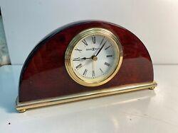 Howard Miller Cherry Mantel / Desk Alarm Clock.  Model 613493