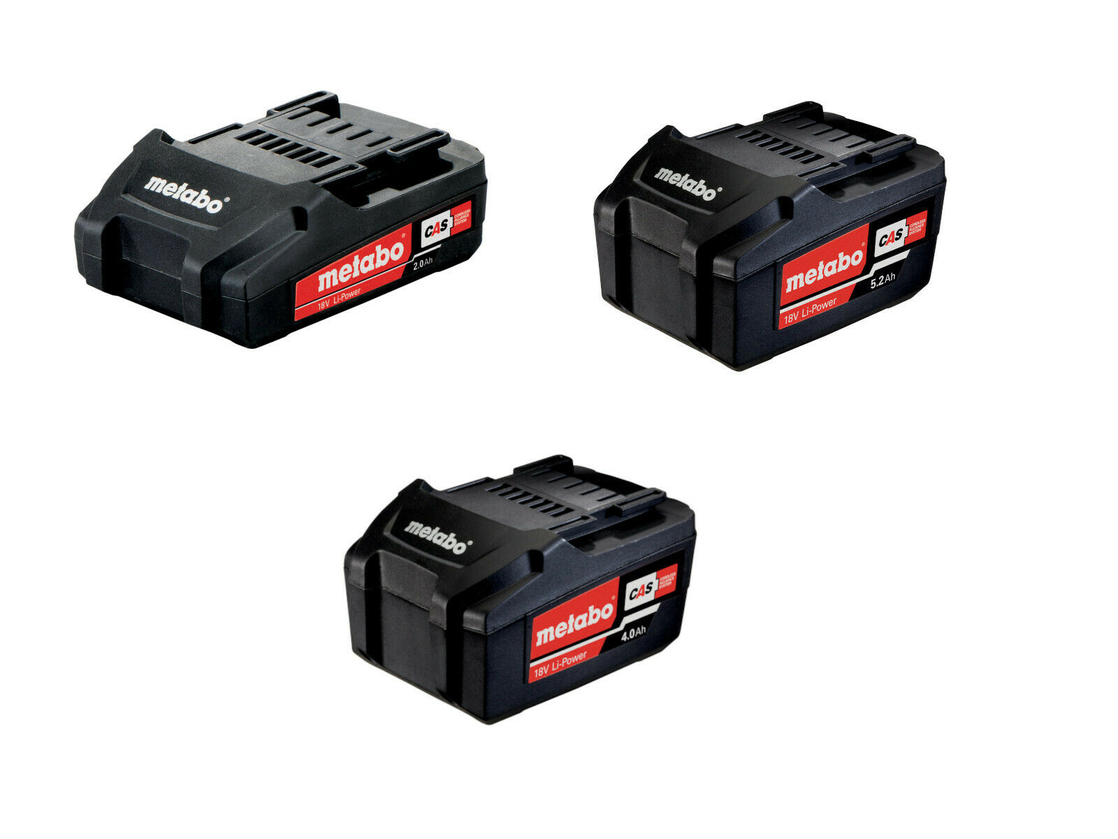 Metabo 18 Volt Li-Power Akkupacks 2.0 - 4.0 - 5.2 Ah Li-Ion CAS Akku 18V Akkus