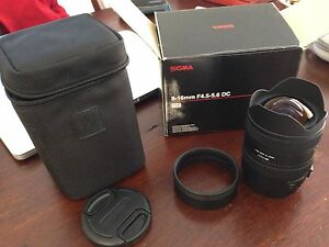 Sigma lens AF 8-16mm f/4.5-5.6 DC HSM COST $799 sell $450 Yokine Stirling Area Preview