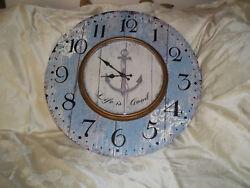 Nautical Large Round 23 Wall Clock