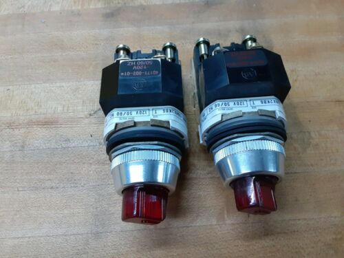 Lot of 2 - Allen Bradley 800T-16HX2KB6 Red 2 Position Maintained Selector Switch