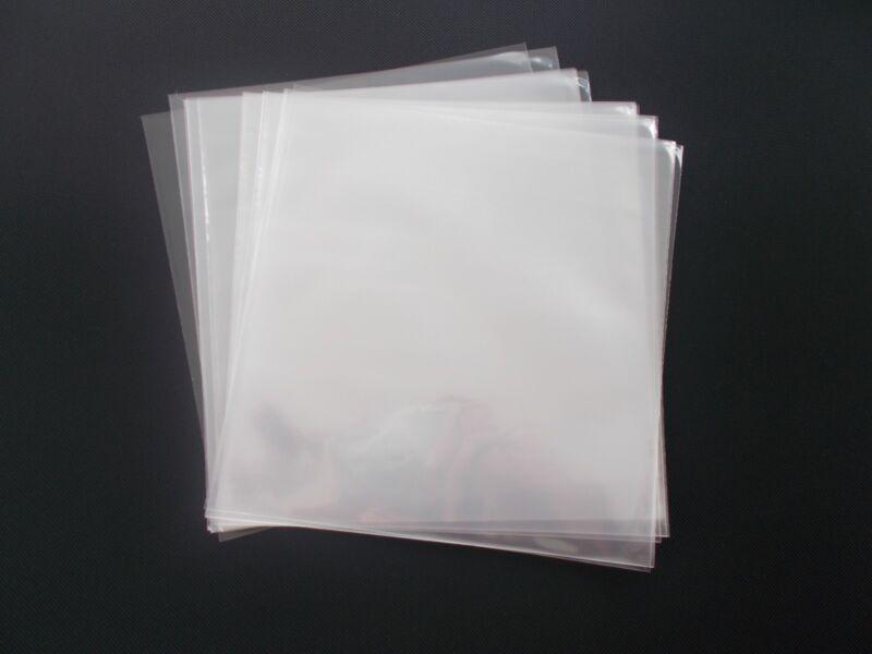 100 45 RPM Vinyl Record Album Sleeves Plastic Clear Polypropylene Outersleeve