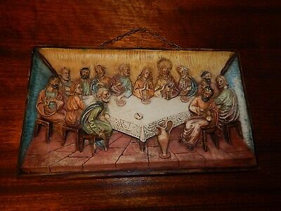 The Last Supper Exposed Edged 18.5 Inch Resin Stone Wall Plaque Roman Inc