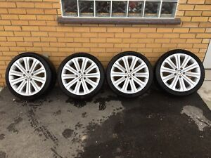 "(4) OEM VW Borbet 18x8"" 5x112 ET48 w/ Michelin PS AS3 225/40R18"