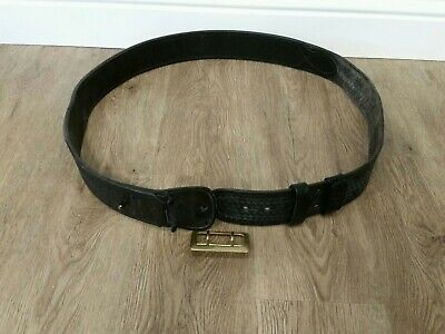 Aker Leather B03 Sam Browne Duty Belt Half Leather-lined 2-14 Width - 48