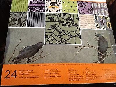 MARTHA STEWART DESIGNER PAPER CRAFT HALLOWEEN  BAT CROW  SPIDER WEB