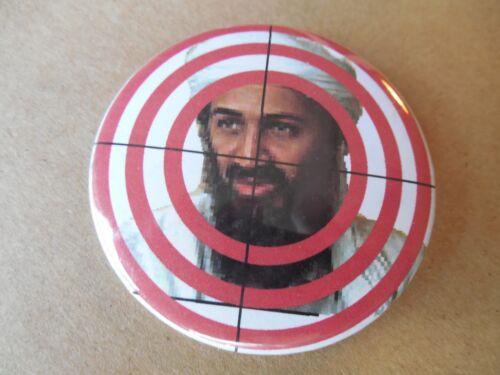 """Osama Bin Laden Pin Back Button Target Bulls Eye 2.25"""" Bullseye"""