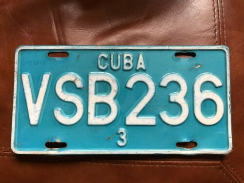 VINTAGE COLLECTIBLE CARIBBEAN LICENSE PLATE