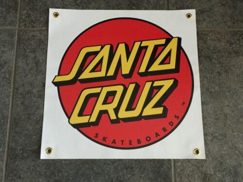 Santa Cruz Skateboards banner sign BLEM skate deck garage bedroom ramp pool