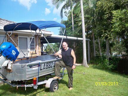 Savage Aluminium boat with Trailer