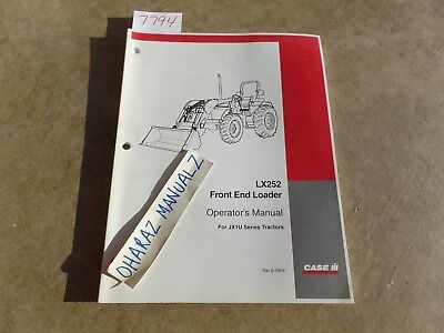 Case Lx252 Front End Loader For Jx1u Series Tractor Operators Manual 6-39591