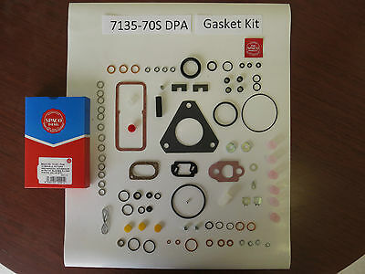 7135-70S DPA rebuild gasket kit w/blades Massey Ford Lucas Delphi